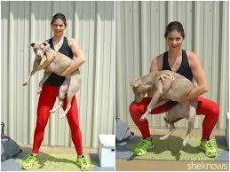 dog squats